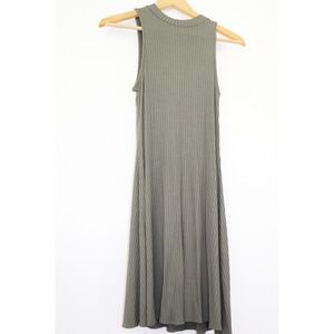 Dresses & Skirts - Army green high-neck dress